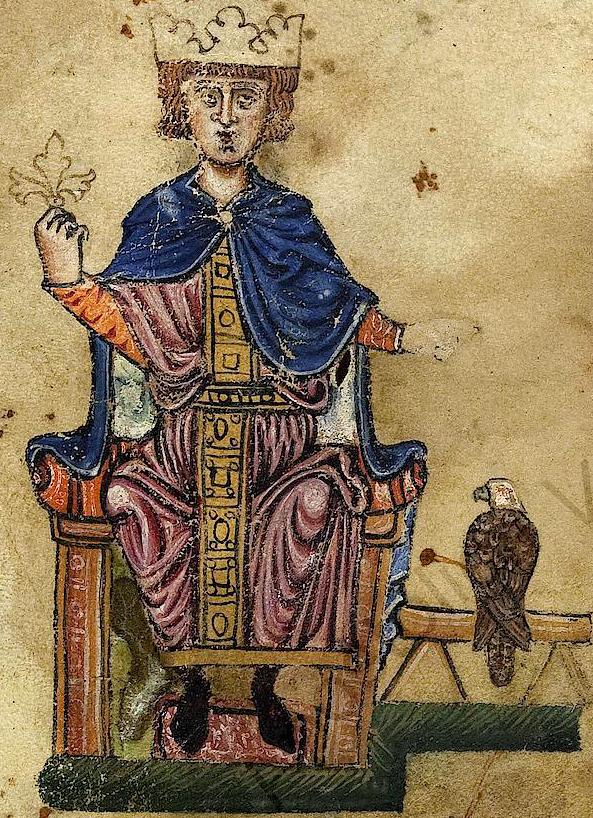 Friedrich II. mit Falke_BAV